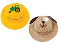 Wendbarer Sonnenhut mit UV-Schutz - Traktor/Hund