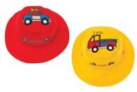 Wendbarer Sonnenhut mit UV-Schutz - Feuerwehrauto/Polizeiauto
