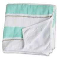 Childhood Blanket Kinderdecke - Aqua Stripe