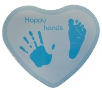 Happy Hands - Hand & Fußabdruckset - Herzform Blau