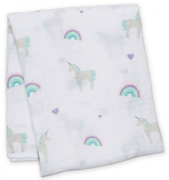 Muslin Swaddle Mulltuch - Unicorn