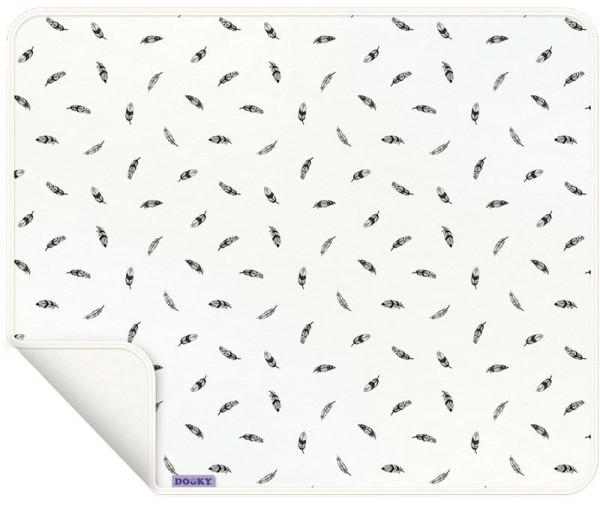 Dooky Blanket - Decke / einlagig / Schwarze Federn