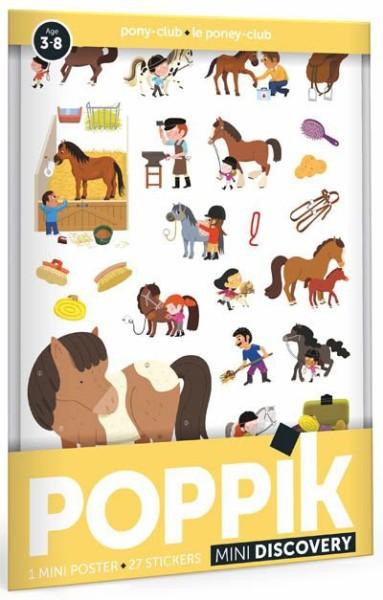 Poppik Stickerposter - Mini Discovery (1 Poster A4 + 27 Sticker) / Reiterhof (3-8 J.)