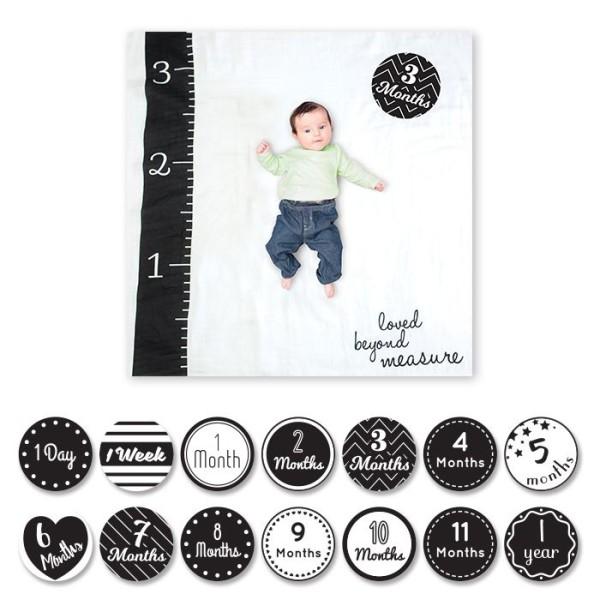 Baby''s First Year™ Swaddle-Blanket & Karten Set - Loved Beyond Measure