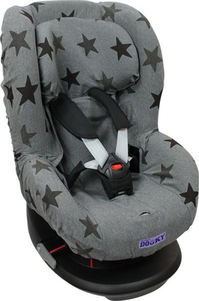 Dooky Seat Cover/Kinderautositzbezug Gruppe 1 - Grey Stars
