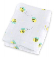 Muslin Swaddle Mulltuch - Bumbling Bee