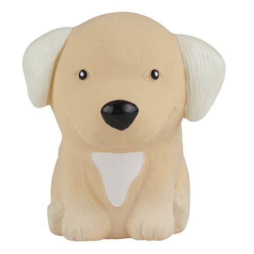 HEVEA Babyspielzeug - Greifling Hund / Golden Retriever / Naturkautschuk