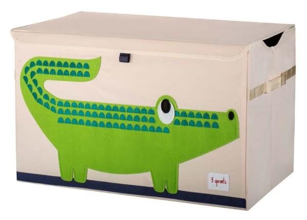 3 Sprouts - Aufbewahrungskiste für Kinderzimmer / faltbar / Krokodil