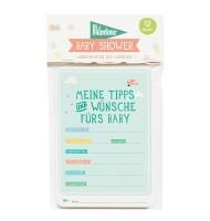"""Baby Shower - Wunschkarten zum Ausfüllen von Milestone™ - Design """"Original"""""""