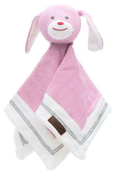Juddlies Cottage Collection - Lovey/Schmusetuch Baumwolle (Bio) / Hund / Sunset Pink