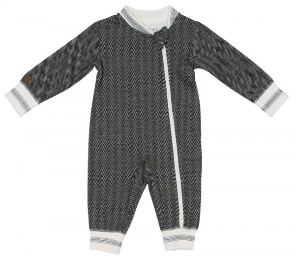 Juddlies Cottage Collection - Strampler Baumwolle (Bio) / Bear Black (M/6-12 M/7-10,4 kg)