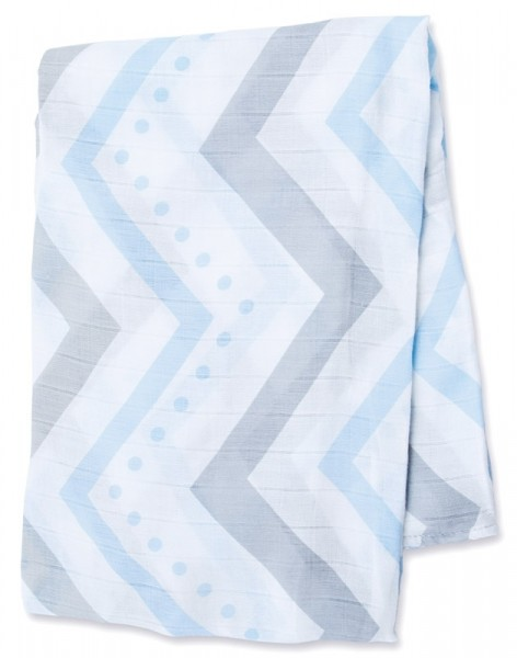 Bamboo Swaddle Mulltuch - Blue Chevron