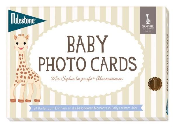 Milestone™ Baby-Fotokarten - Sophie la girafe / deutsch / 24 Karten