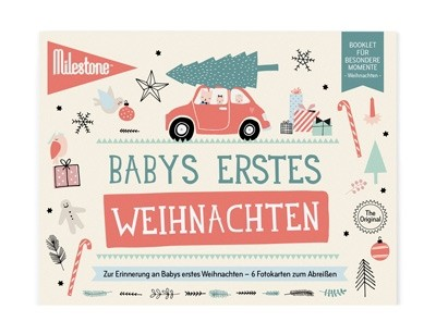 Milestone™ Booklet Baby-Fotokarten / Weihnachten / 6 Karten