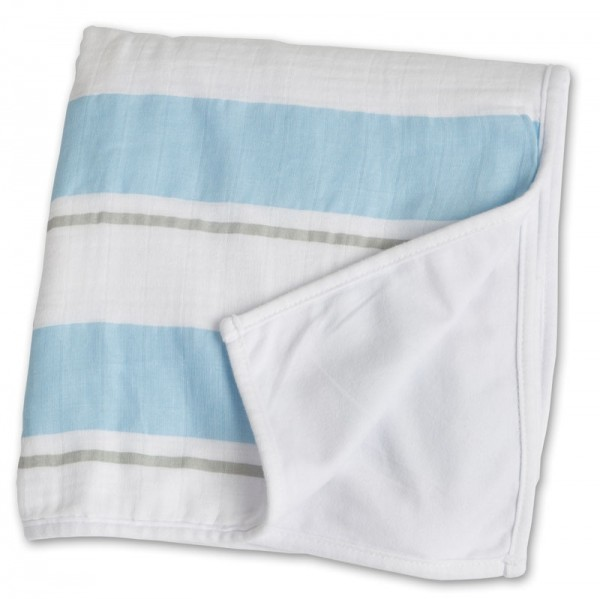 Childhood Blanket Kinderdecke - Blue Stripe