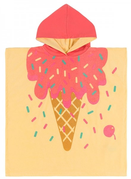 Frottee-Poncho - Ice Cream