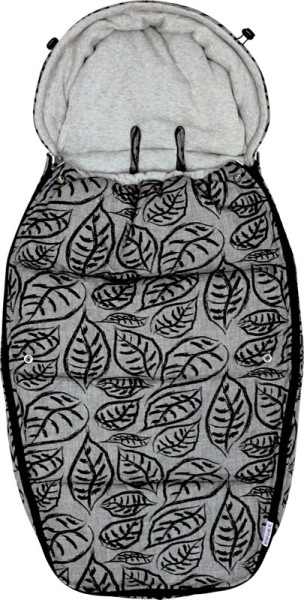 Dooky Footmuff/Fußsack - Grey Leaves  - Large