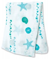 Bamboo Swaddle Mulltuch - Seaside