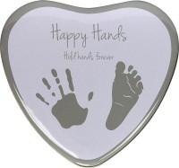Happy Hands - Hand & Fußabdruckset - Herzform Silber