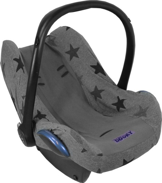 Dooky Babyschalenbezug - Grey Stars