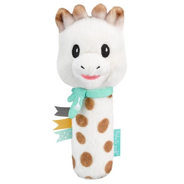 Sophie la girafe® - Baby-Stabrassel Greifling mit Quietsche / Giraffe / Plüsch