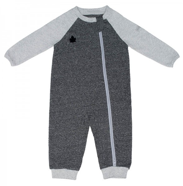 Juddlies Raglan Collection - Strampler Baumwolle (Bio) / Graphite Black (M/6-12 M/7-10,4 kg)