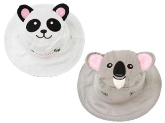 Wendbarer Sonnenhut mit UV-Schutz - Panda/Koala