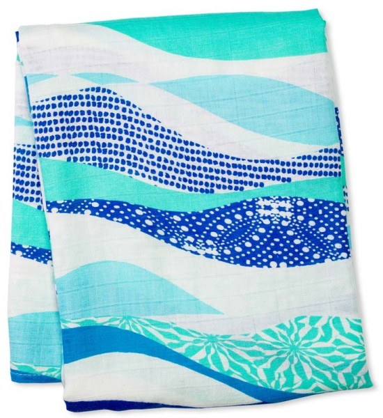 Bamboo Swaddle Mulltuch - Waves