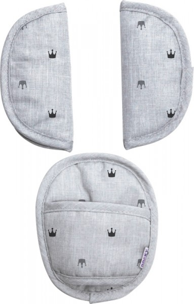 Dooky Universal Pads - Light Grey Crowns