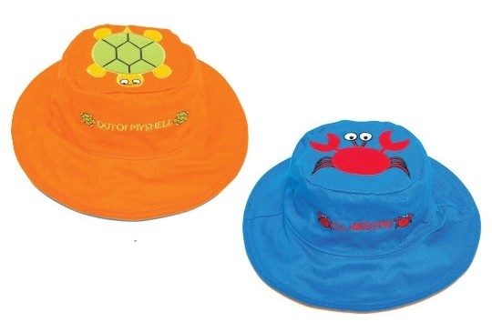 Wendbarer Sonnenhut mit UV-Schutz - Krebs/Schildkröte