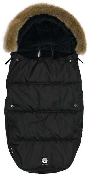 Dooky Footmuff/Fußsack - Black Furry - Large