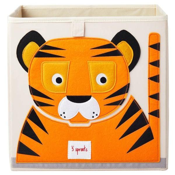 3 Sprouts - Aufbewahrungsbox für Kinderzimmer / faltbar / Tiger