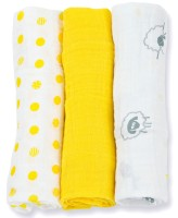 Mini Muslin Mulltuch 3er Set  - Sunshine Yellow