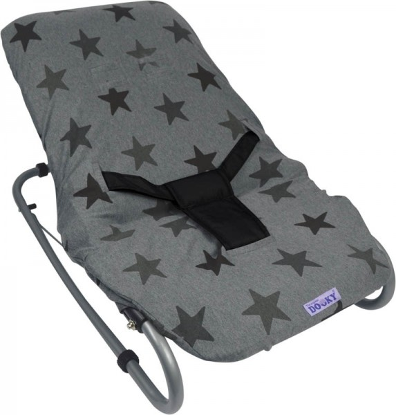 Dooky Bouncer Cover/Babywippenbezug - Grey Stars