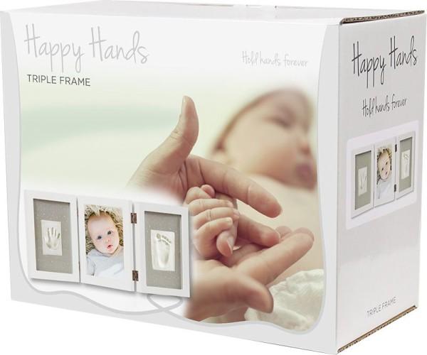 Happy Hands - Hand & Fußabdruckset / Bilderrahmen 3-teilig