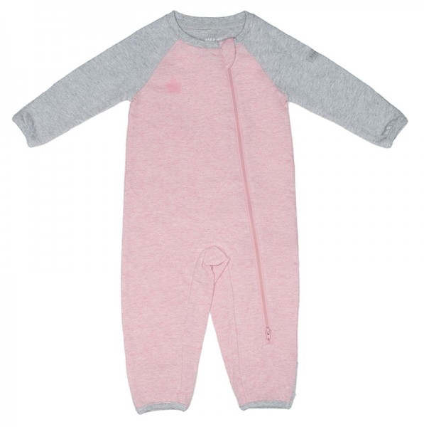 Juddlies Raglan Collection - Strampler Baumwolle (Bio) / Dogwood Pink (M/6-12 M/7-10,4 kg)