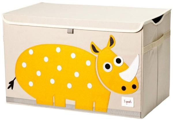 3 Sprouts - Aufbewahrungskiste für Kinderzimmer / faltbar / Nashorn