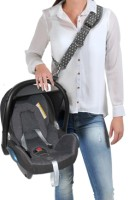 Dooky Carrier Tragegurt für Babyschalen - grey/white stars