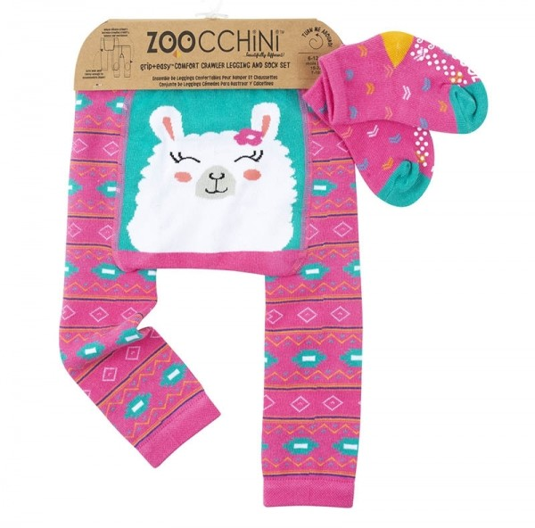 Baby Leggings & Socken Set - Laney das Lama (12-18M)