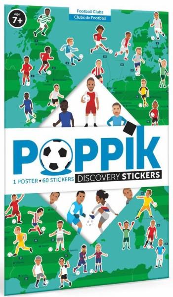 Poppik Stickerposter - Discovery (1 Poster + 62 Sticker) / Fußball (6-12 J.)