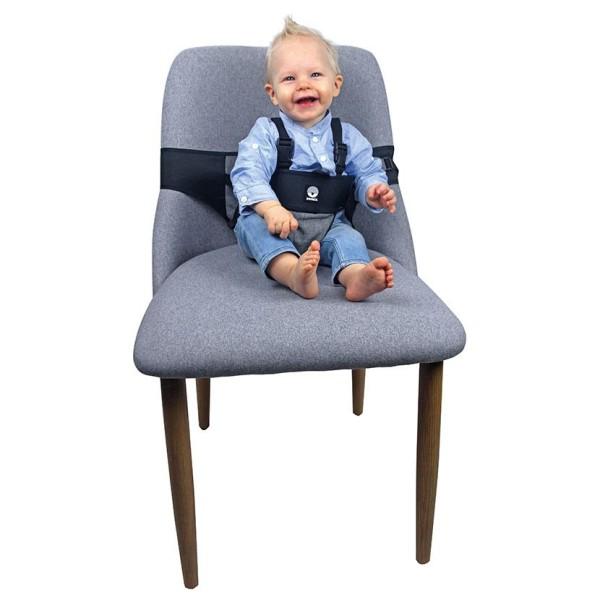 Dooky Travel Chair - mobiler Stuhl-Sitzgurt / universell / Grau