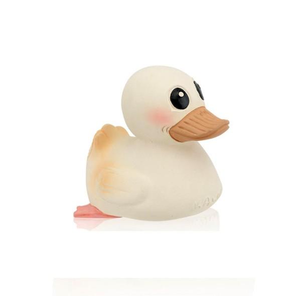 Hevea Bade- und Spielzeugente KAWAN mini - White