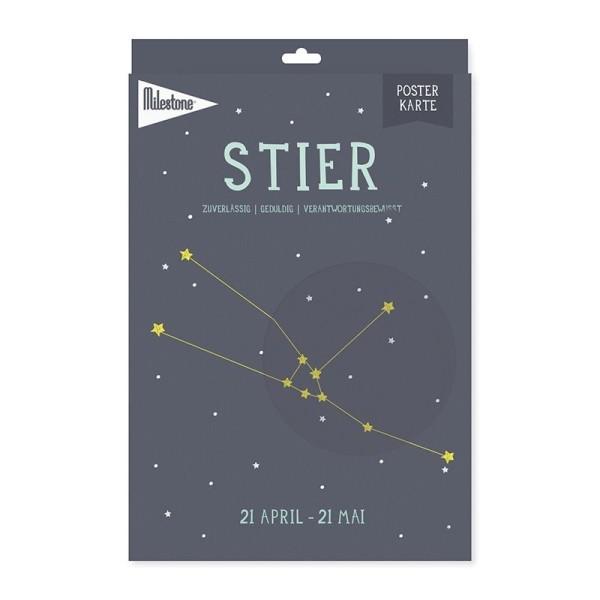 Milestone™ Sternzeichen-Posterkarte / Stier
