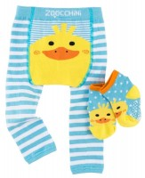Baby Leggings & Socken Set - Puddles die Ente (12-18M)