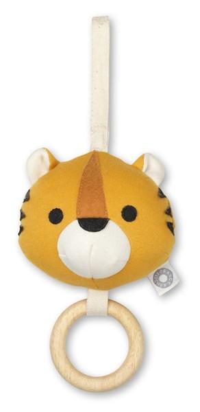 FRANCK & FISCHER – Activity-Spielzeug Tiger Lonni / Bio-Baumwolle / Gelb
