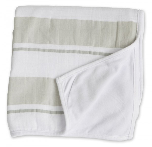 Childhood Blanket Kinderdecke - Grey Stripe