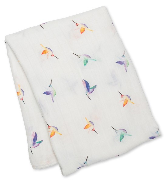 Bamboo Swaddle Mulltuch (fashion collection) -  Hummingbird