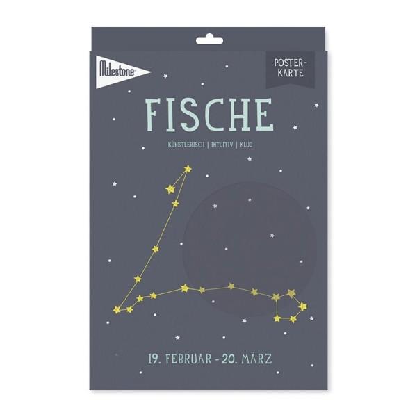 Milestone™ Sternzeichen-Posterkarte / Fische