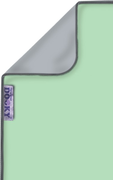 Dooky Blanket - Decke / doppellagig / Mint/Grau