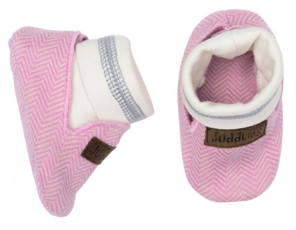 Juddlies Cottage Collection - Babyschuhe Baumwolle (Bio) / Sunset Pink (0-4 M)